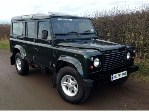 1998 r land rover defender 110 county sw 300 tdi stunning example diller 39 s 4x4s. Black Bedroom Furniture Sets. Home Design Ideas